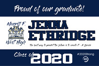 Jenna Ethridge West High Yard Sign